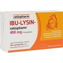 16197884, IBU-LYSIN-ratiopharm 400 mg Filmtabletten, 50 ST