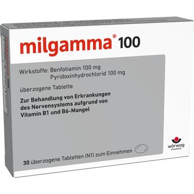 milgamma 100 mg berzogene tabletten beipackzettel informationen apotheken umschau. Black Bedroom Furniture Sets. Home Design Ideas