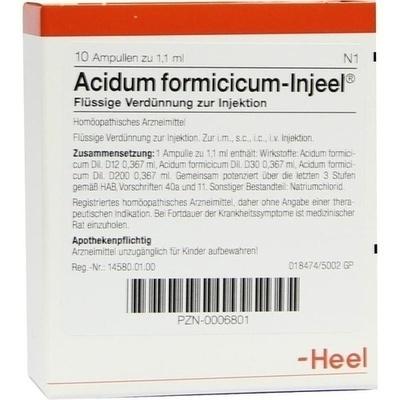 ACIDUM FORMICICUM INJEEL Ampullen