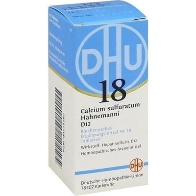 BIOCHEMIE DHU 18 Calcium sulfuratum D 12 Tabletten