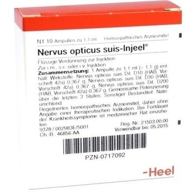 NERVUS OPTICUS suis Injeel Ampullen