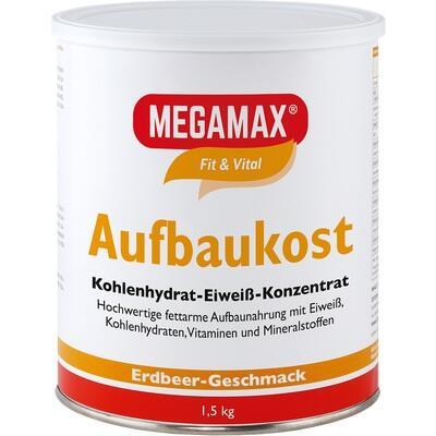 MEGAMAX Aufbaukost Erdbeere Pulver