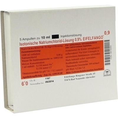 ISOTONISCHE NaCl Lösung 0,9% Eifelfango Inj.-Lsg.