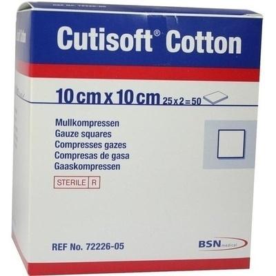 CUTISOFT Cotton Kompr.10x10 cm steril