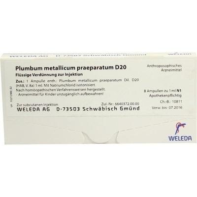PLUMBUM METALLICUM praep. D 20 Ampullen