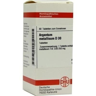 ARGENTUM METALLICUM D 30 Tabletten