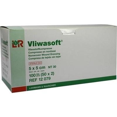 VLIWASOFT Vlieskompressen 5x5 cm steril 6l.