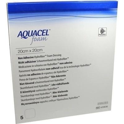 AQUACEL Foam nicht adhäsiv 20x20 cm Verband