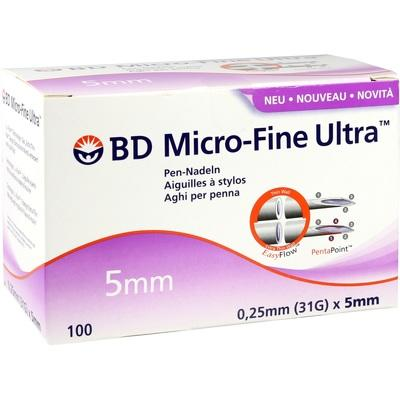 BD MICRO-FINE ULTRA Pen-Nadeln 0,25x5 mm