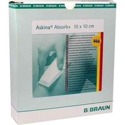 ASKINA Absorb+ Wundgaze 10x10 cm