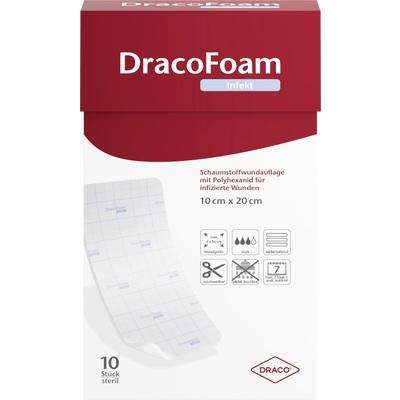 DRACOFOAM Infekt Schaumst.Wundauf.10x20 cm