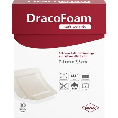 DRACOFOAM Haft sensitiv Schaumst.Wund.7,5x7,5 cm