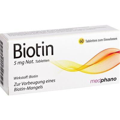 BIOTIN 5 mg Nat.Tabletten