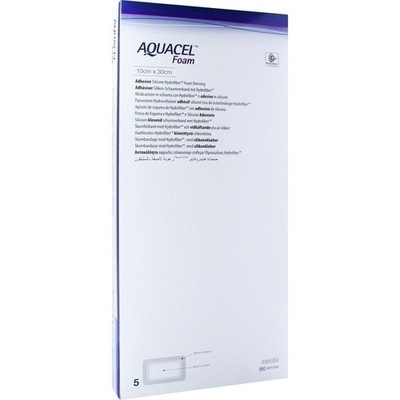 AQUACEL Foam adhäsiv 10x30 cm Verband