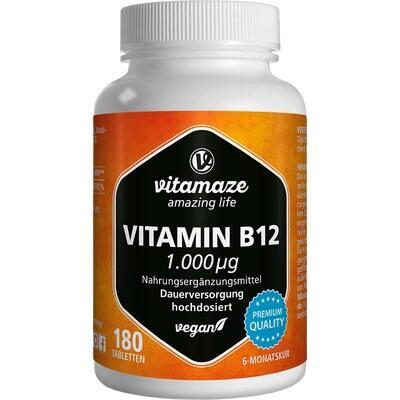 VITAMIN B12 1.000 \m63g hochdosiert vegan Tablette