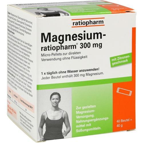 00066654, Magnesium-ratiopharm 300mg Micro-Pellets m Gran., 40 ST