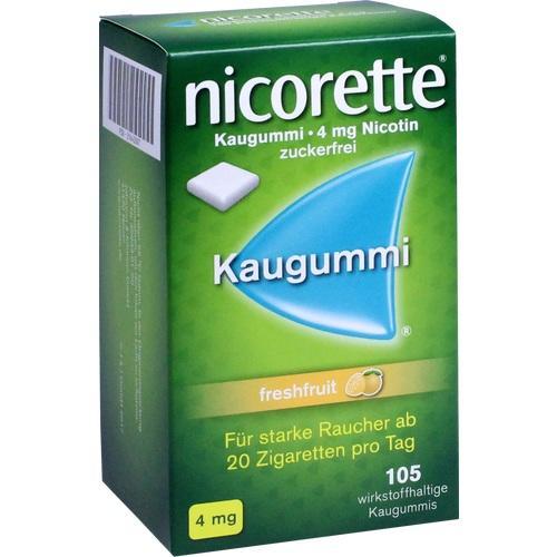 105 Tbl. Nicorette 4 mg Kaugummi freshfruit
