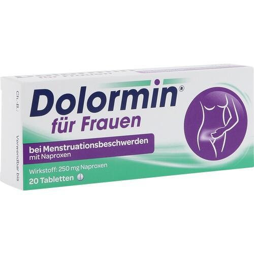 Dolormin für Frauen bei Menstruationsbeschwerden mit Naproxen Tabletten