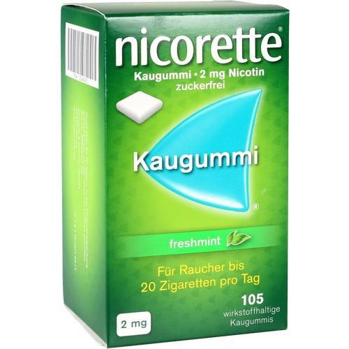105 Tbl. Nicorette 2 mg Kaugummi freshmint