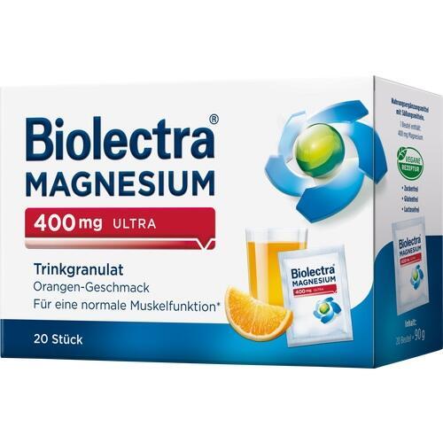 BIOLECTRA Magnesium 400 mg ultra Trinkgran.Orange