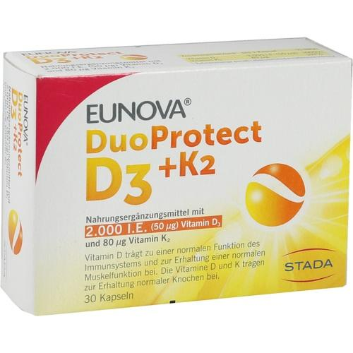 EUNOVA DuoProtect D3+K2 2000 I.E./80 μg Kapseln