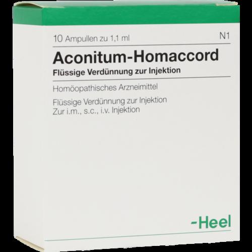 Verpackungsbild(Packshot) von ACONITUM HOMACCORD Ampullen