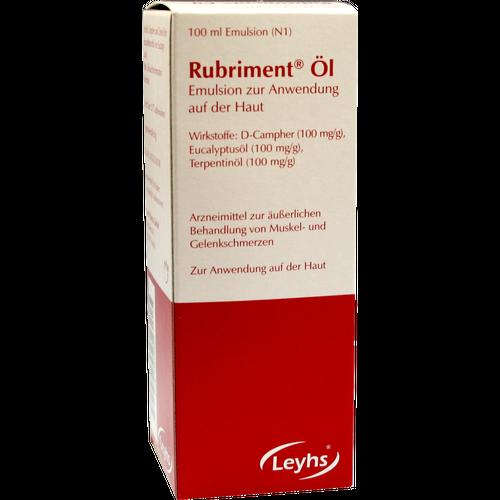 Verpackungsbild(Packshot) von RUBRIMENT Öl