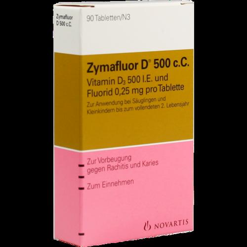 Verpackungsbild(Packshot) von ZYMAFLUOR D 500 C C Tabletten