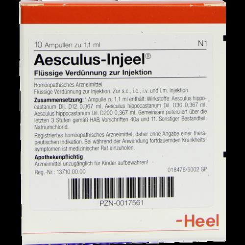 Verpackungsbild(Packshot) von AESCULUS INJEEL Ampullen