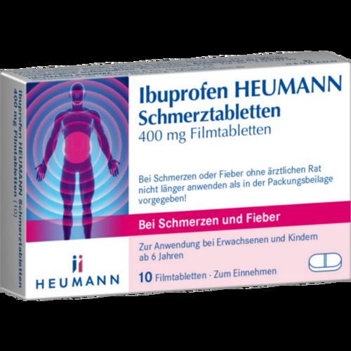 Verpackungsbild(Packshot) von IBUPROFEN Heumann Schmerztabletten 400 mg