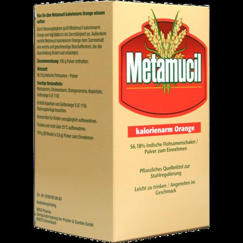 Verpackungsbild(Packshot) von METAMUCIL Orange kalorienarm Pulver