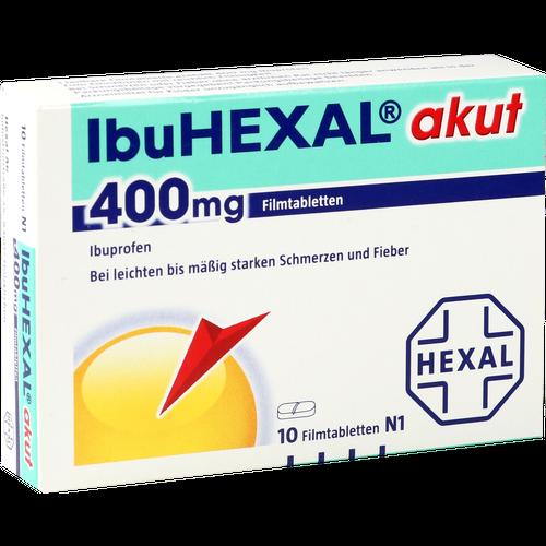 Verpackungsbild(Packshot) von IBUHEXAL akut 400 Filmtabletten