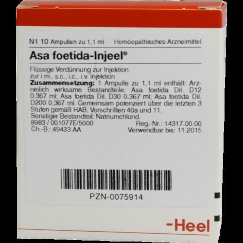 Verpackungsbild(Packshot) von ASA FOETIDA INJEEL Ampullen