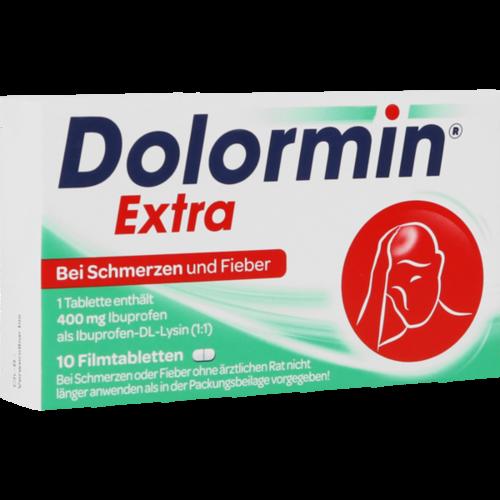 Verpackungsbild(Packshot) von DOLORMIN extra Filmtabletten