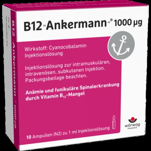Verpackungsbild(Packshot) von B12 ANKERMANN 1.000 μg Ampullen