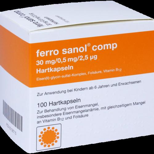 Verpackungsbild(Packshot) von FERRO SANOL comp. Hartkaps.m.msr.überz.Pellets