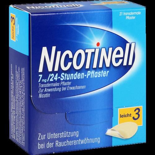 Verpackungsbild(Packshot) von NICOTINELL 7 mg/24-Stunden-Pflaster 17,5mg