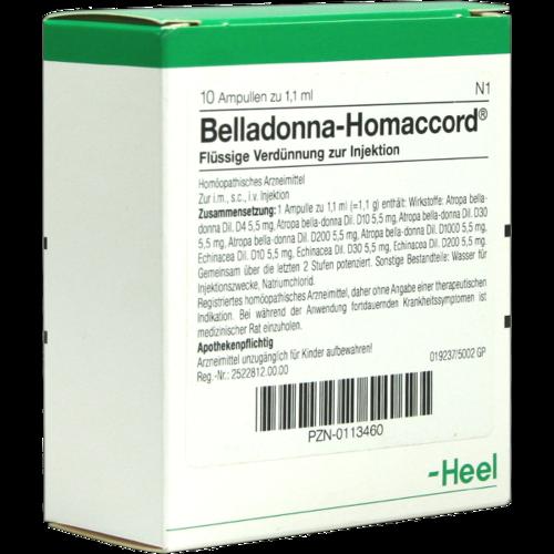 Verpackungsbild(Packshot) von BELLADONNA HOMACCORD Ampullen