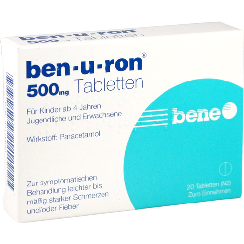 Verpackungsbild(Packshot) von BEN-U-RON 500 mg Tabletten