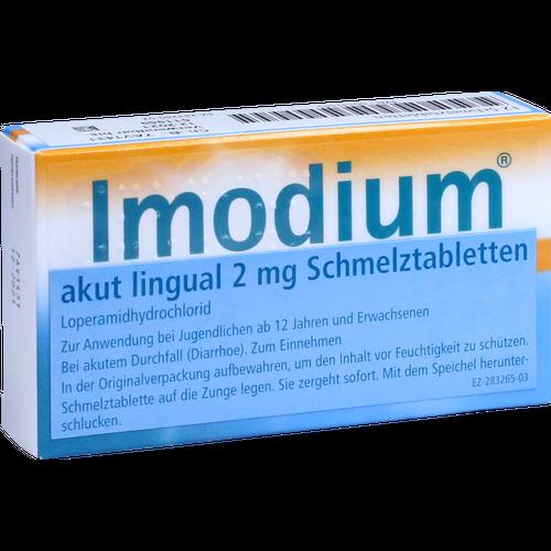 Verpackungsbild(Packshot) von IMODIUM akut lingual Schmelztabletten