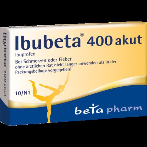 Verpackungsbild(Packshot) von IBUBETA 400 akut Filmtabletten