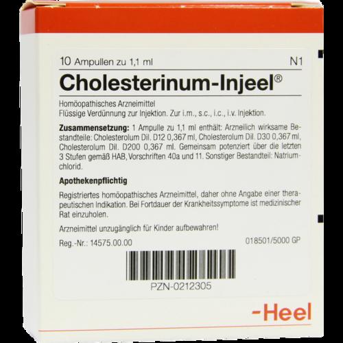 Verpackungsbild(Packshot) von CHOLESTERINUM INJEEL Ampullen