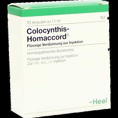 Verpackungsbild(Packshot) von COLOCYNTHIS HOMACCORD Ampullen