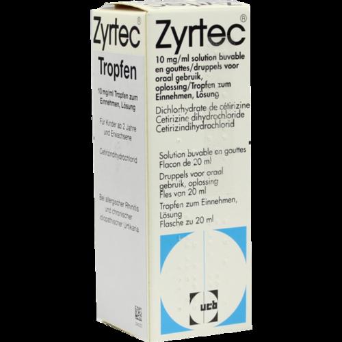 Verpackungsbild(Packshot) von ZYRTEC Tropfen