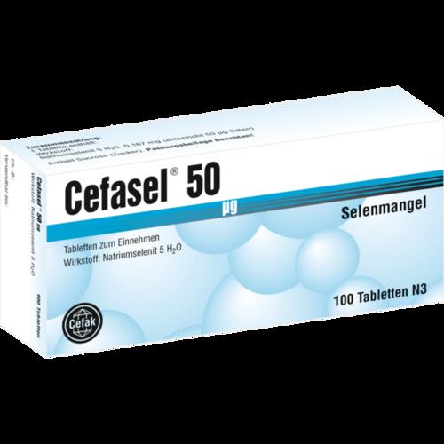 Verpackungsbild(Packshot) von CEFASEL 50 μg Tabletten