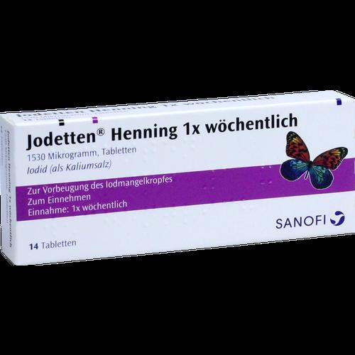 Verpackungsbild(Packshot) von JODETTEN Henning 1x wöchentlich Tabletten