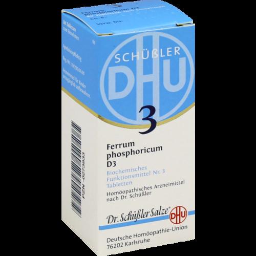 Verpackungsbild(Packshot) von BIOCHEMIE DHU 3 Ferrum phosphoricum D 3 Tabletten