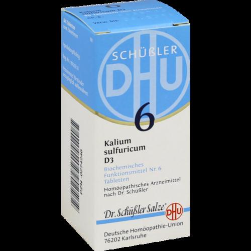 Verpackungsbild(Packshot) von BIOCHEMIE DHU 6 Kalium sulfuricum D 3 Tabletten