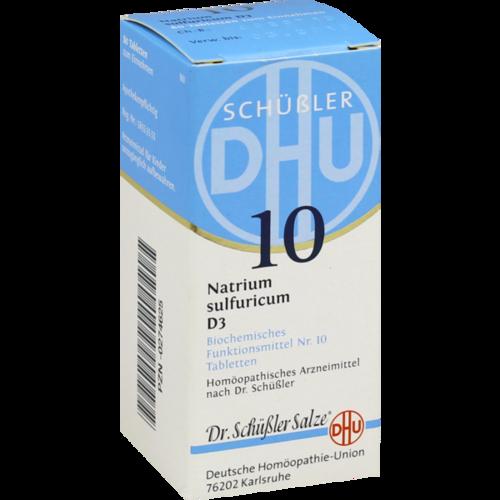 Verpackungsbild(Packshot) von BIOCHEMIE DHU 10 Natrium sulfuricum D 3 Tabletten