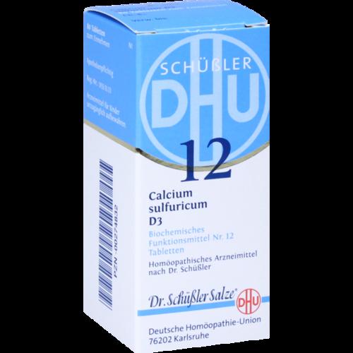 Verpackungsbild(Packshot) von BIOCHEMIE DHU 12 Calcium sulfuricum D 3 Tabletten